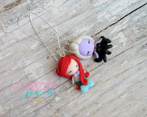 Little Mermaid jewelry, Ariel and ursula, mermaid earrings ...