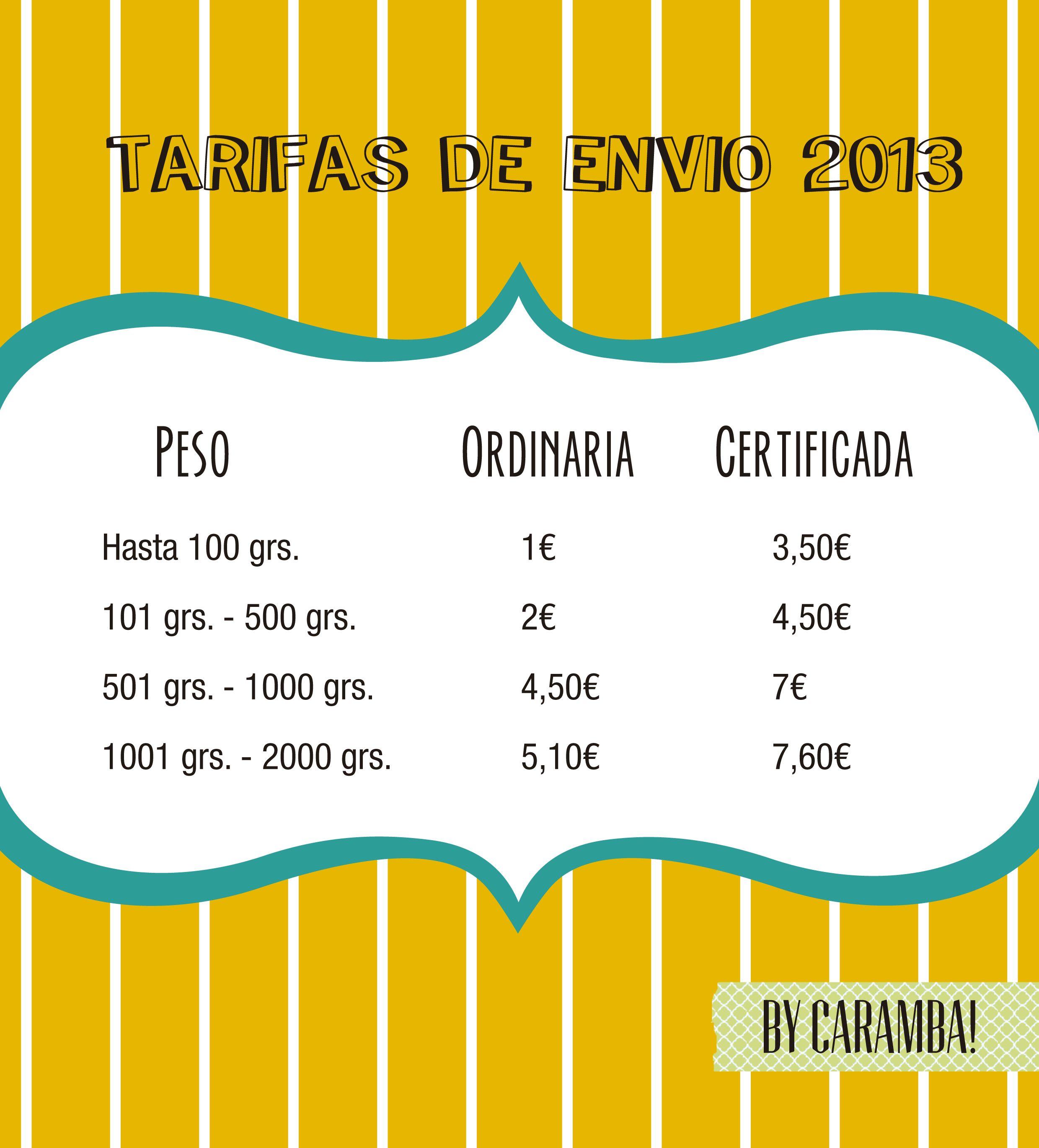Envios a toda España. #Tarifa #Precios #Envio #Correos