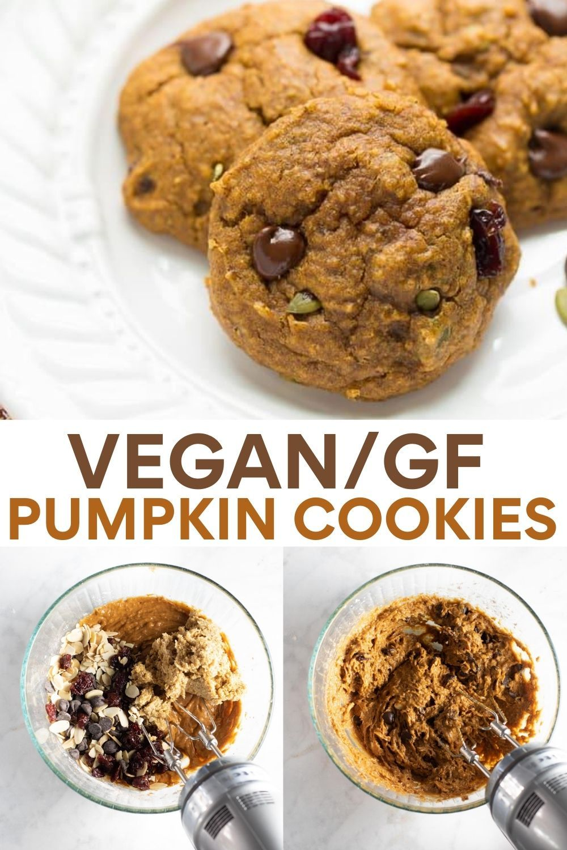 Vegan Gluten Free Pumpkin Cookies In 2020 Vegan Pumpkin Cookies Gluten Free Pumpkin Recipes Gluten Free Pumpkin Cookies