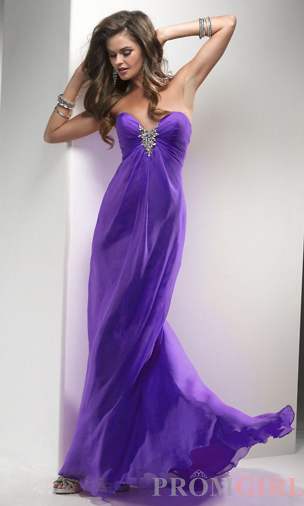 Long Strapless Prom Dresses, Flirt Strapless Prom Gowns- PromGirl ...