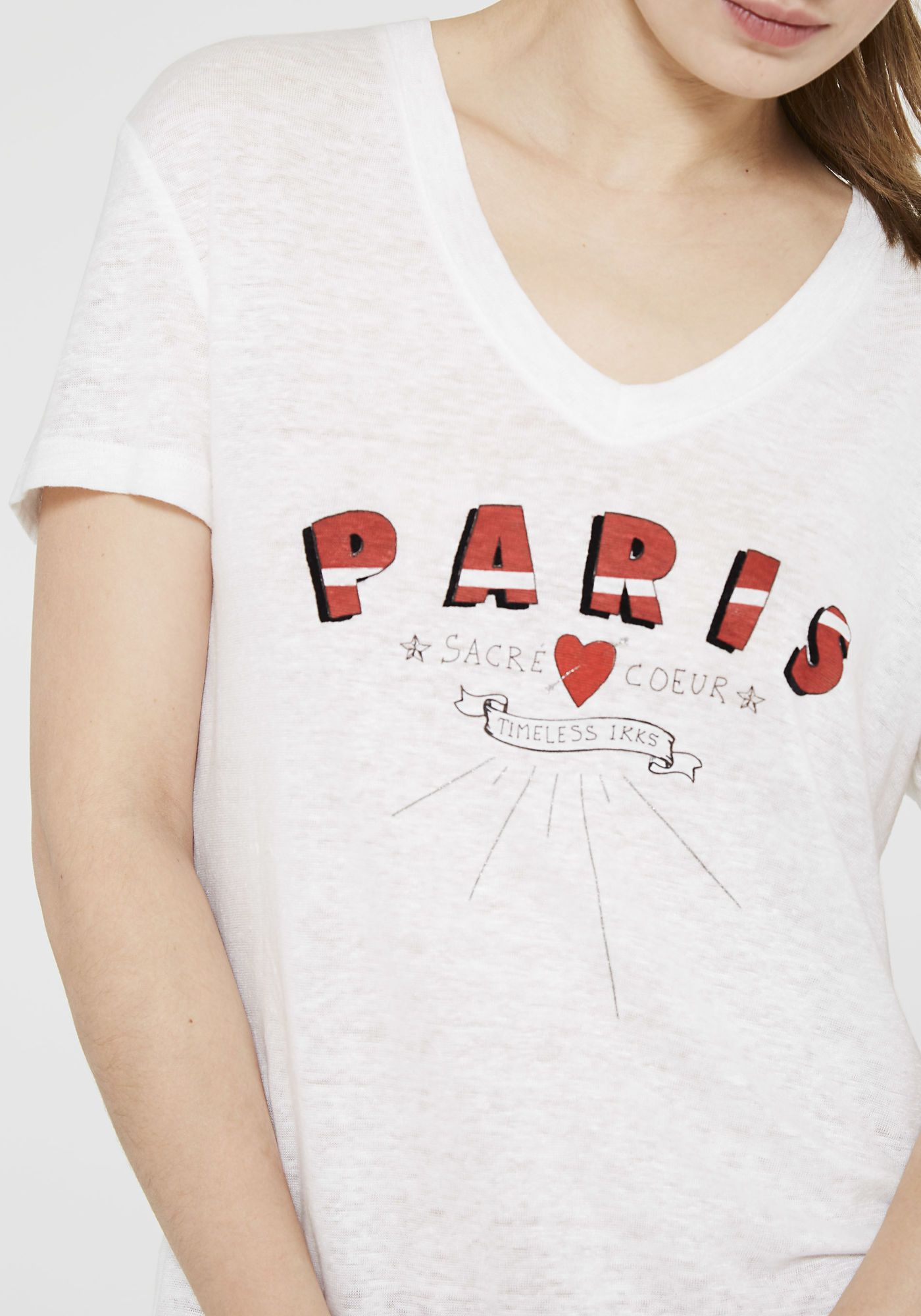 59b6f2c69 Women's Paris graphic T-shirt | IKKS Clothing | IKKS Women | Trend ...