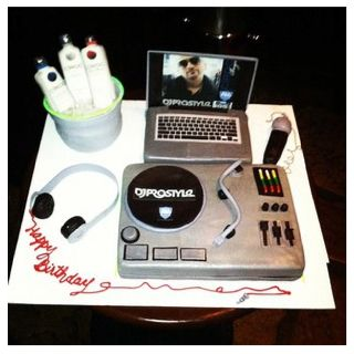 Magnificent Dj Birthday Cake With Images Dj Cake Music Themed Cakes Personalised Birthday Cards Cominlily Jamesorg