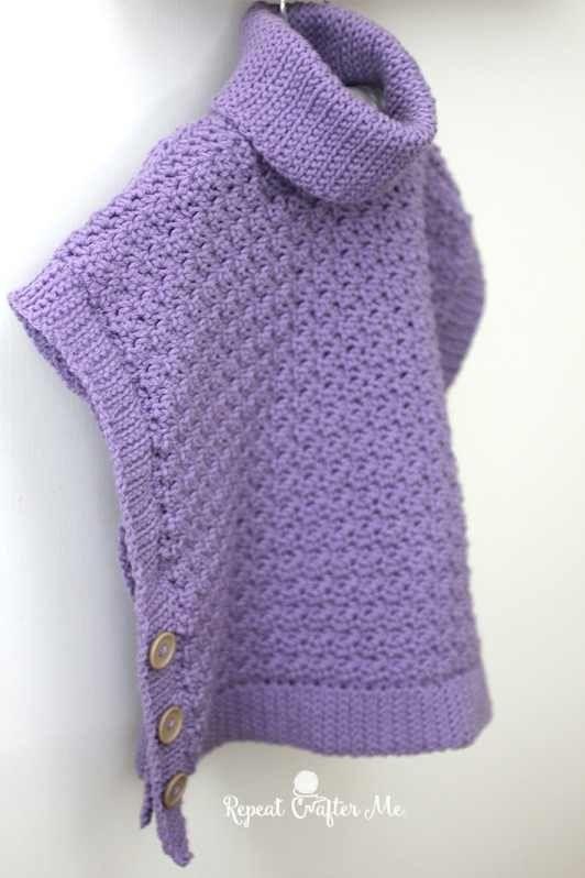 20 Free Crocheted Poncho Patterns | Ponchos de Crochet | Pinterest ...