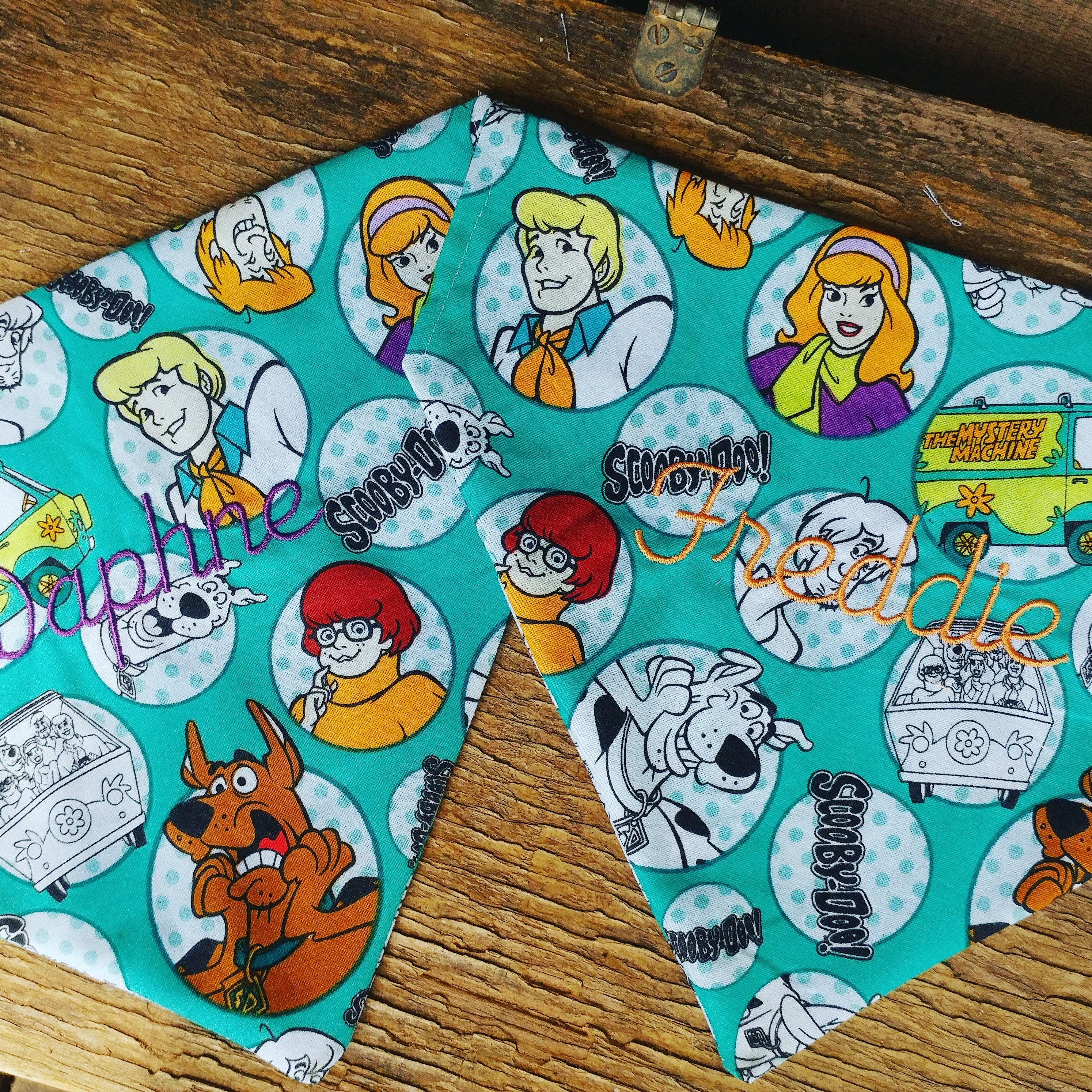 Scooby Doo Dog Bandana, Mystery Inc, pet gift, slide on bandana ...