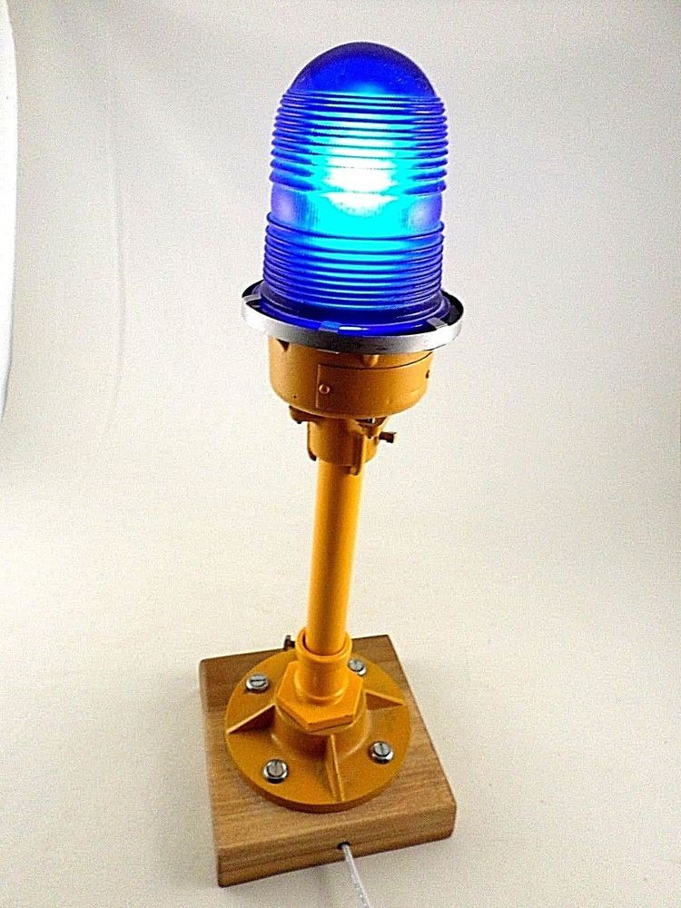 Crouse-Hinds Airport Runway Side Guide Light Airplane Plane Blue