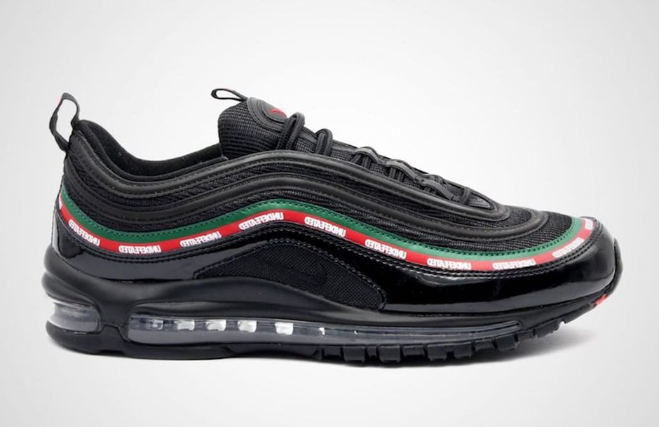 Mens Womens Undefeated x Nike Air Max 97 OG Black Red White Sneakers Running Shoes AJ1986 001