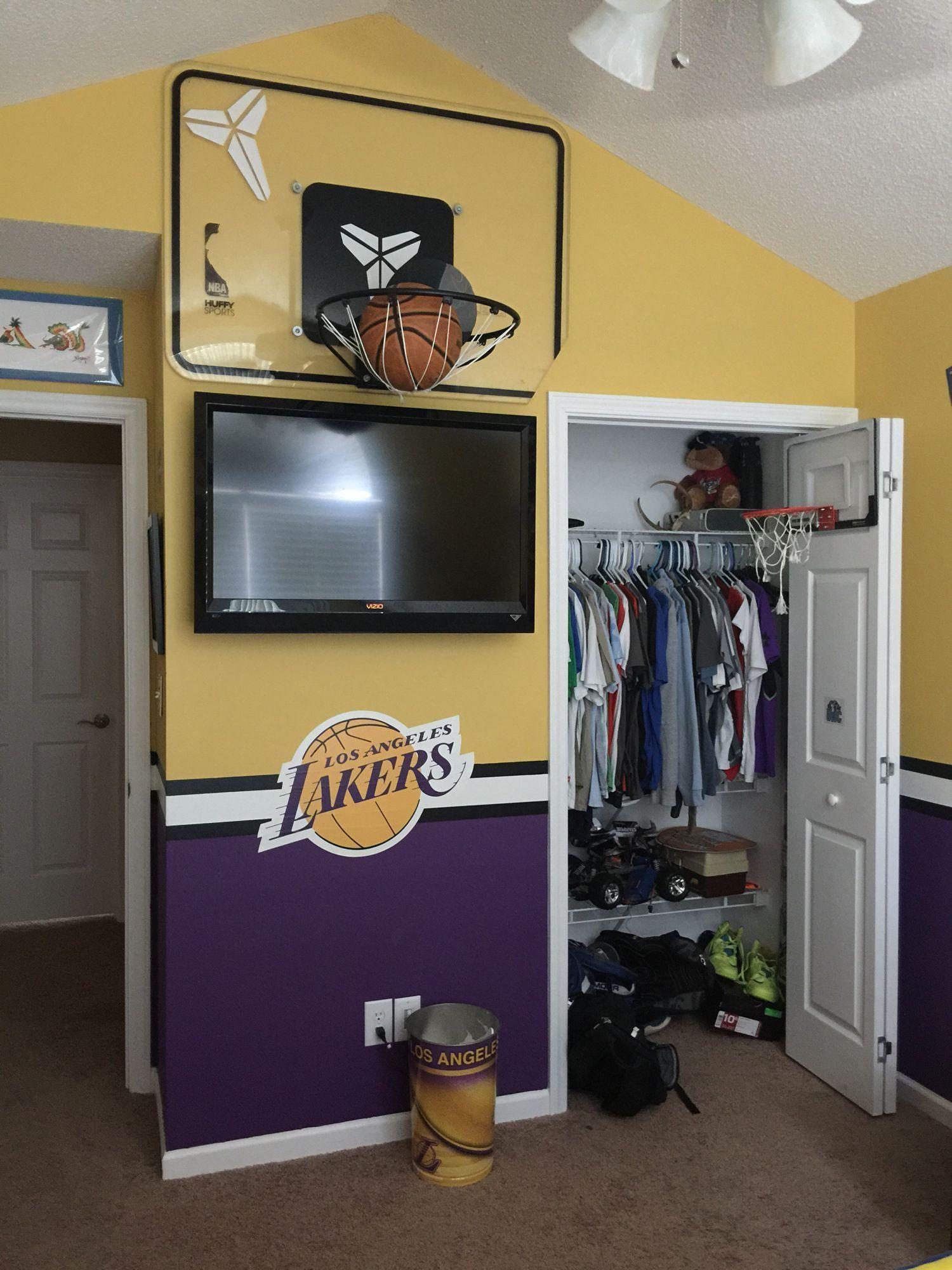 20 Deco Chambre Nba  Basketball room, Basketball themed bedroom