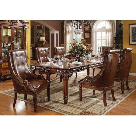 Simple Relax 1PerfectChoice Winfred 7 Pcs Elegant Formal Dining Set