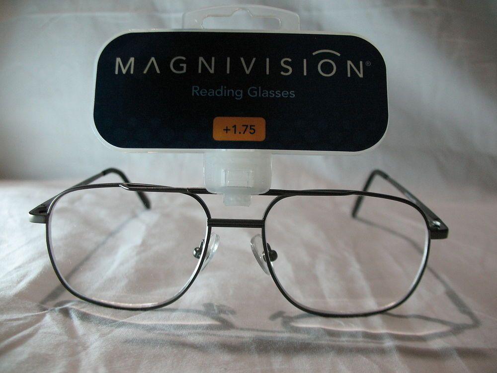 Magnivision Aero Gray Aviator Reading Glasses +1.75 2.25