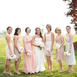 A Soft Elegant Wedding Celebration At Kingsmill Resort Filled With Lovely Peonies Miss Matched Bridesmaids Dresses