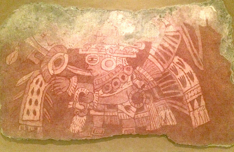 Teotihuacan fragmento de pintura mural arte mexico for Arte mural en mexico