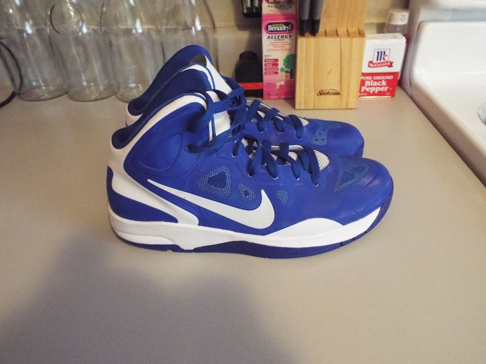 Boys Royal Blue & White Nike Hyper Guard Up youth Basketball Shoes Size 7y # Nike