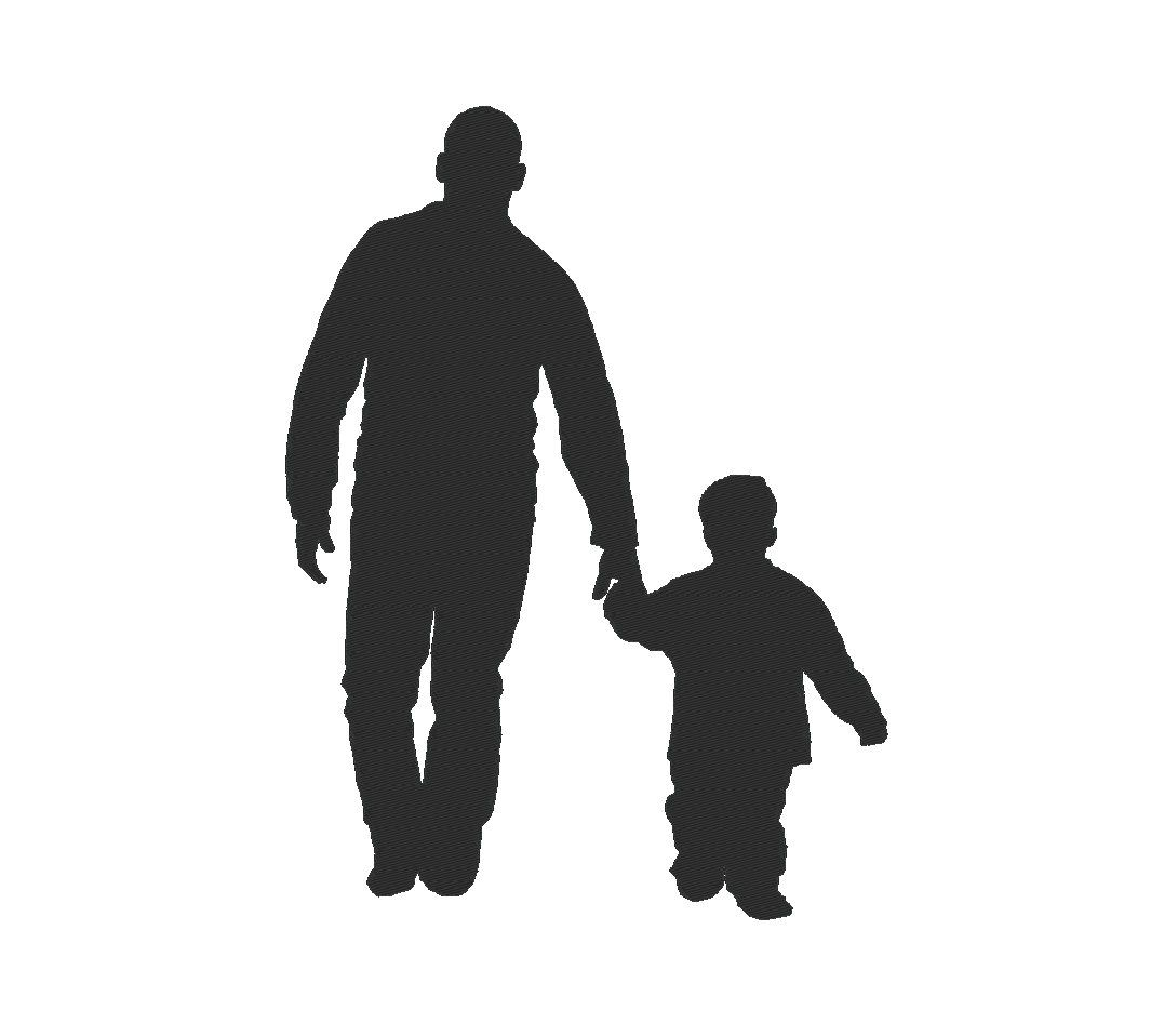 father son silhouette dad daddy fathers day embroidery machine design by ocdembroidery on etsy