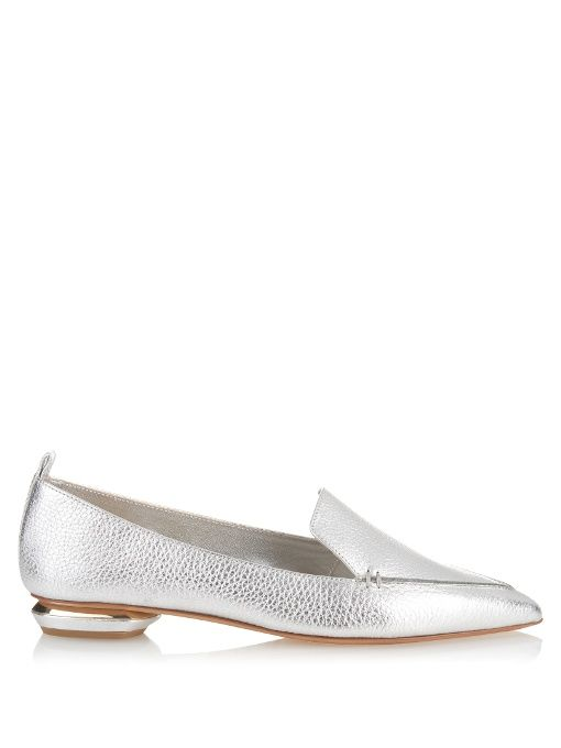6b7955c19c3 NICHOLAS KIRKWOOD Beya Grained-Leather Loafers.  nicholaskirkwood  shoes   flats