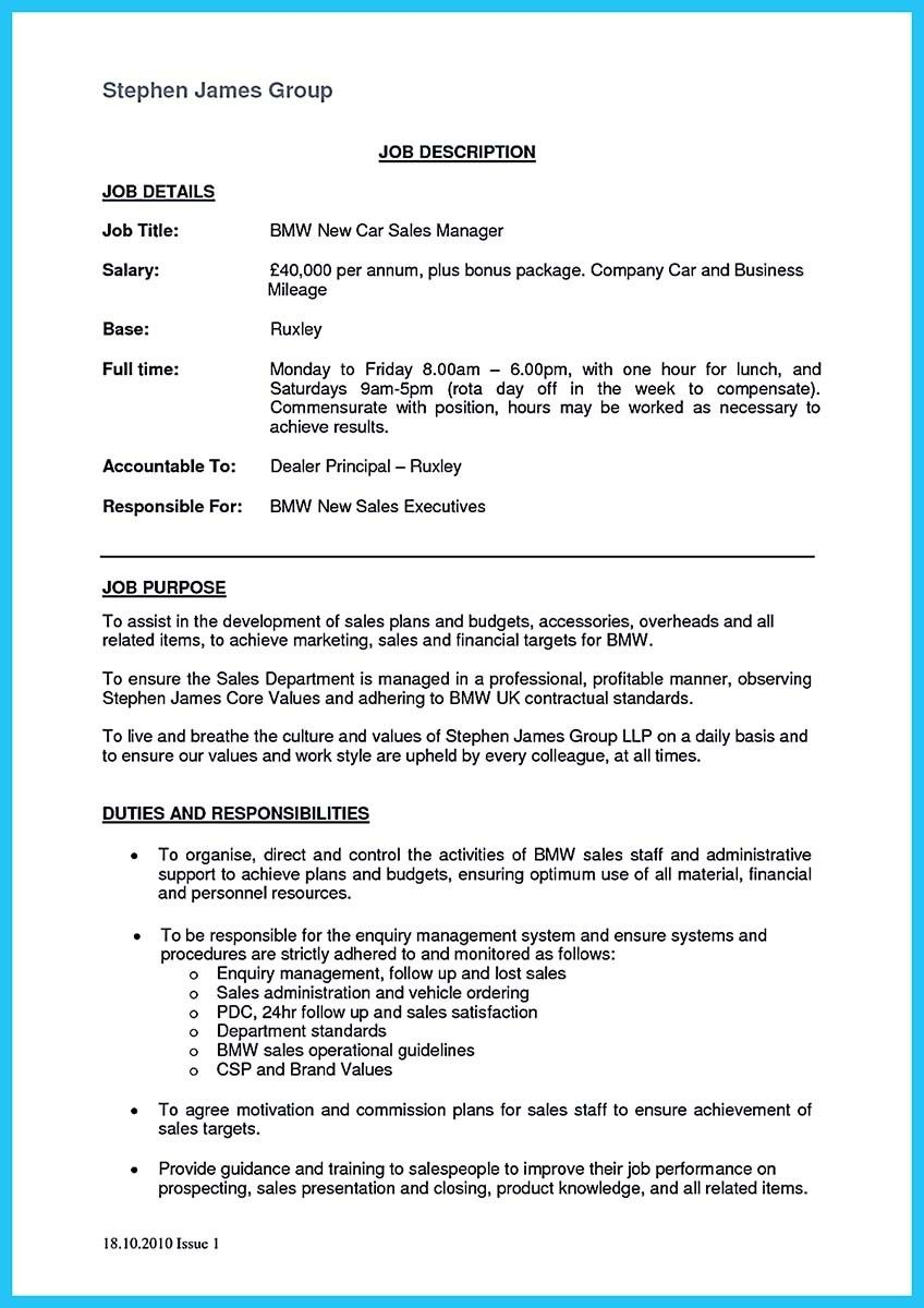 nice Writing a Clear Auto Sales Resume,