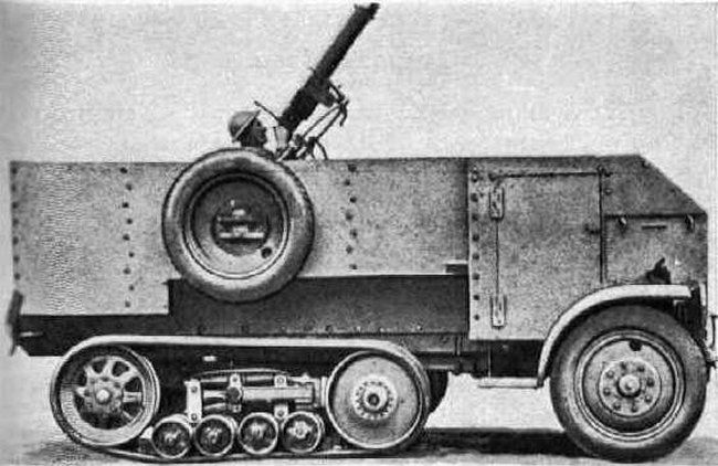 British Burford Halftrack.