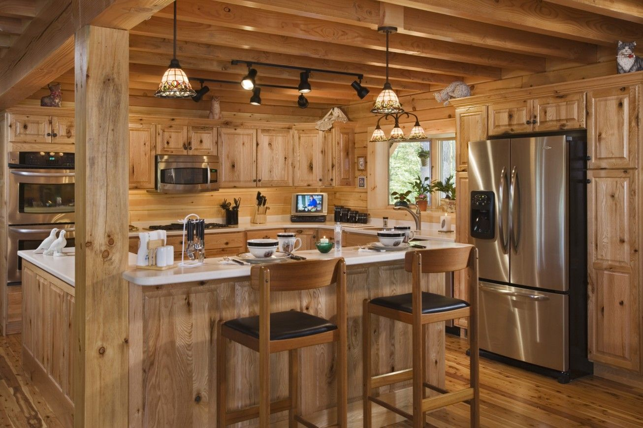 log cabin kitchen design pictures Log Cabin Awesome Log Home