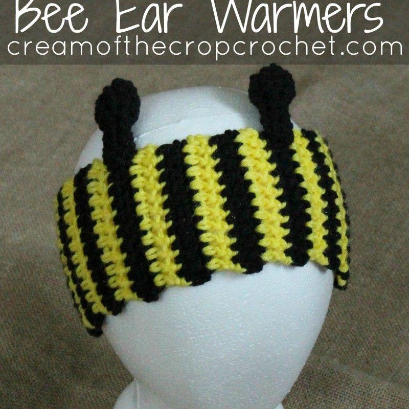 Abeja calentadores del oído del patrón | crochet | Pinterest | Los ...