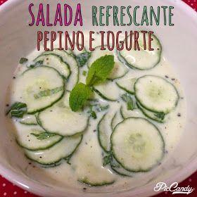 Miss Saúde : Salada refrescante de pepino e iogurte