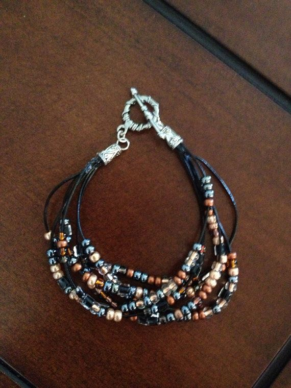 Multi+strand+beaded+bracelet++by+BeadingBettie+on+Etsy,+$8.00