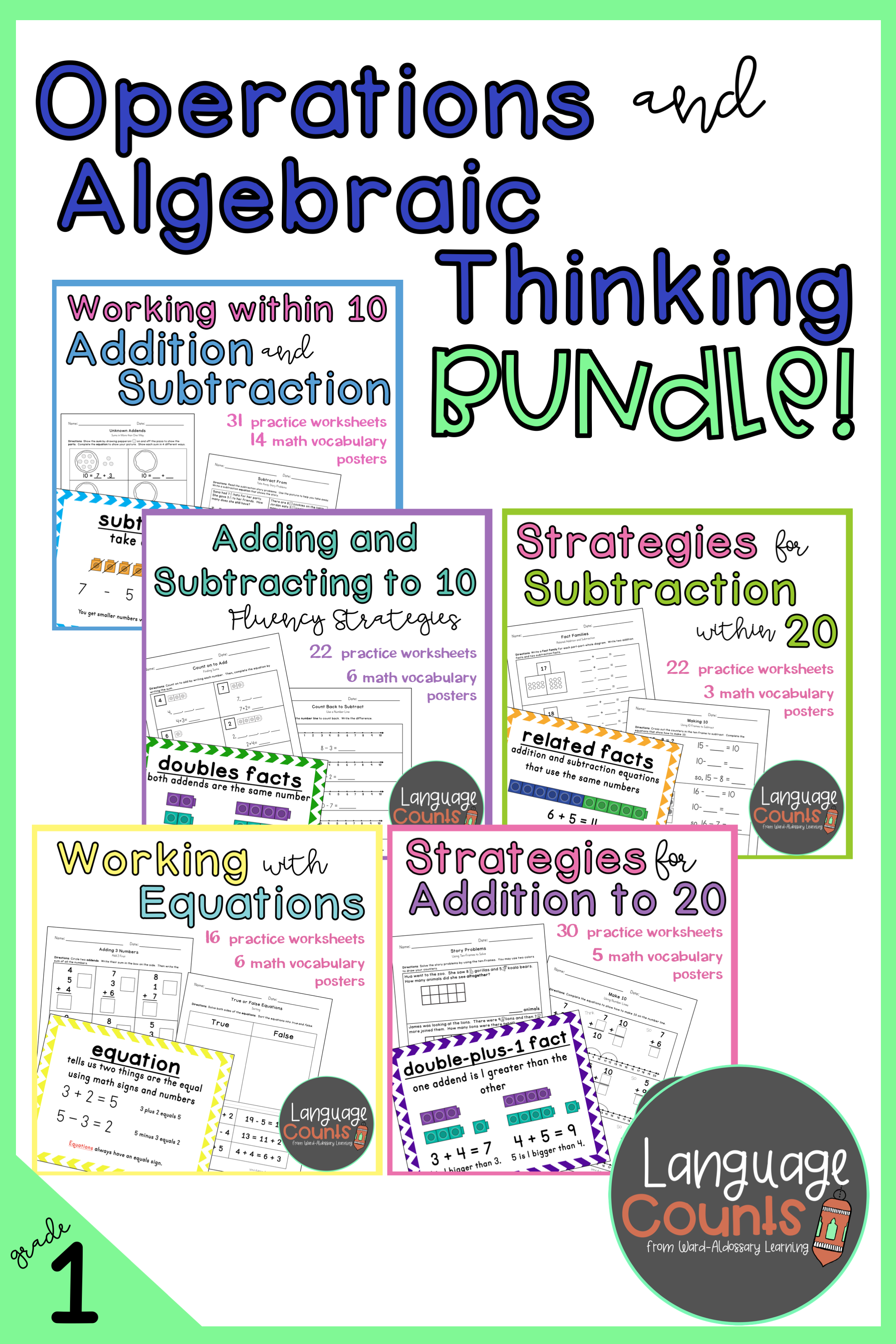 Operations And Algebraic Thinking Bundle 1st Grade