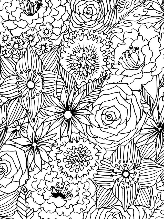 Free Coloring Download For You Flower Coloring Pages Coloring