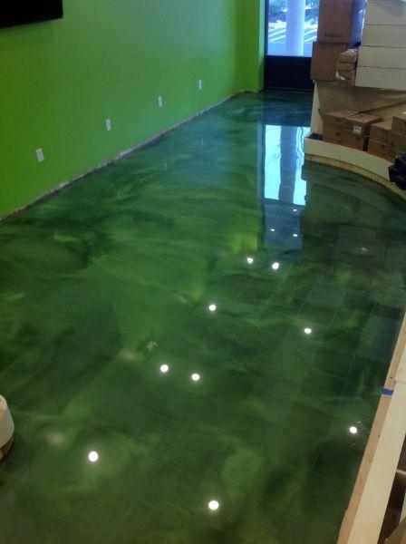Green Epoxy Interior Flooring Hoboken New Jersey Repin