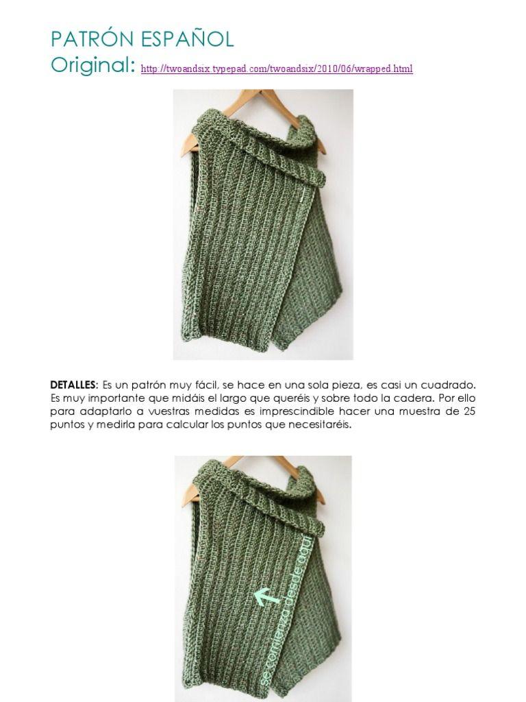 Crochet: Tutorial chaleco. Tutorial vest | punt | Pinterest ...
