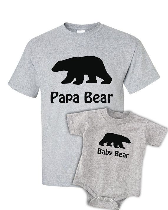 5a74156d0 Papa Bear Baby Bear T Shirt - Shirt - Tee - Set - Father Baby Match - New  Baby - New Dad - Toddler - Baby Shower - Gift - Present - Daddy