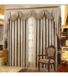 Living Room Blackout Jacquard Light Brown Curtains No Include
