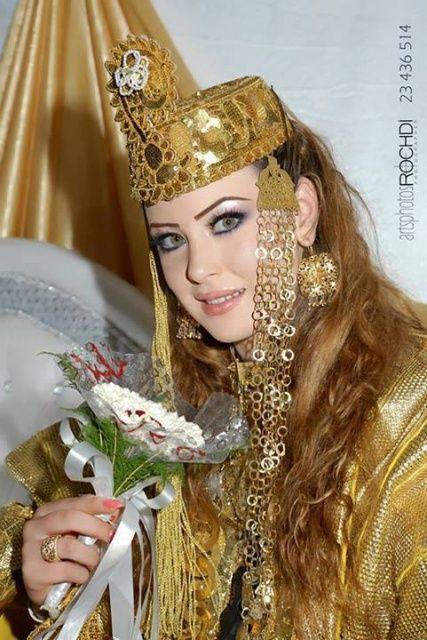 Tenue Traditionnelle Tunisienne Dziriya Magazine Tunisian Clothes Oriental Fashion Beautiful Girl Face