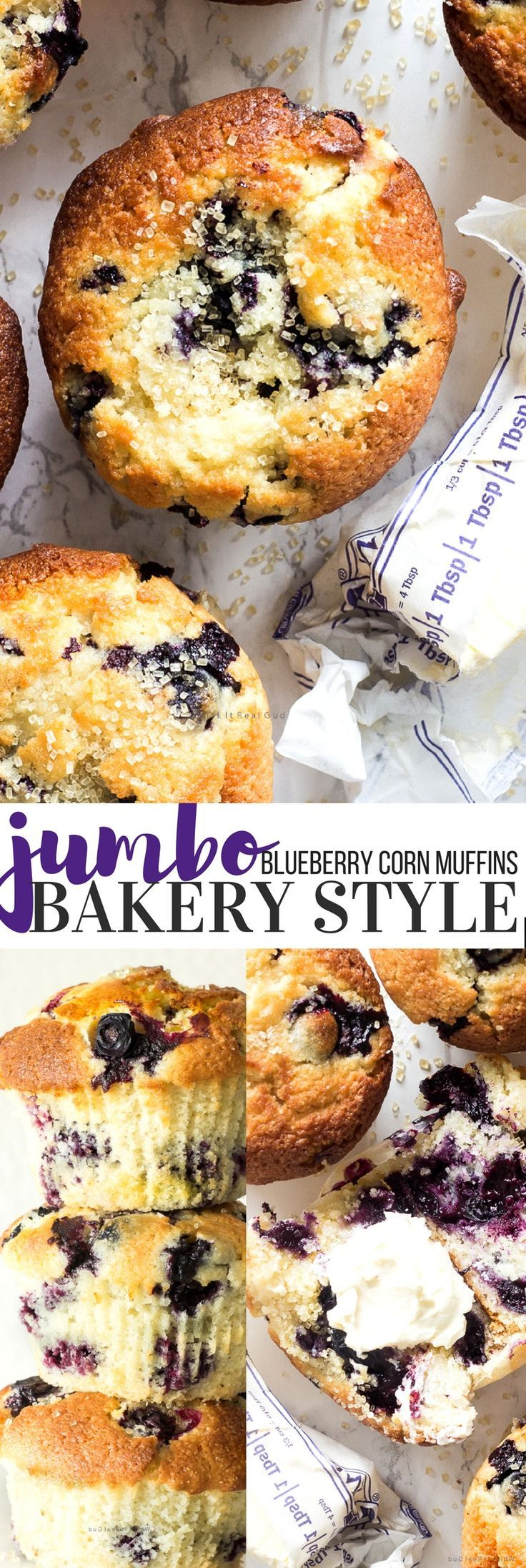 Jumbo Blueberry Corn Muffins Recipe (With images