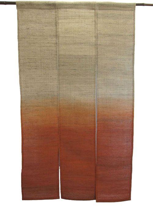 this linen japanese noren curtain is an
