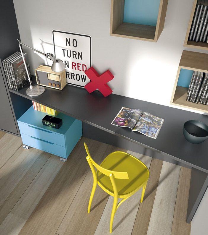 mesa escritorio juvenil con forma