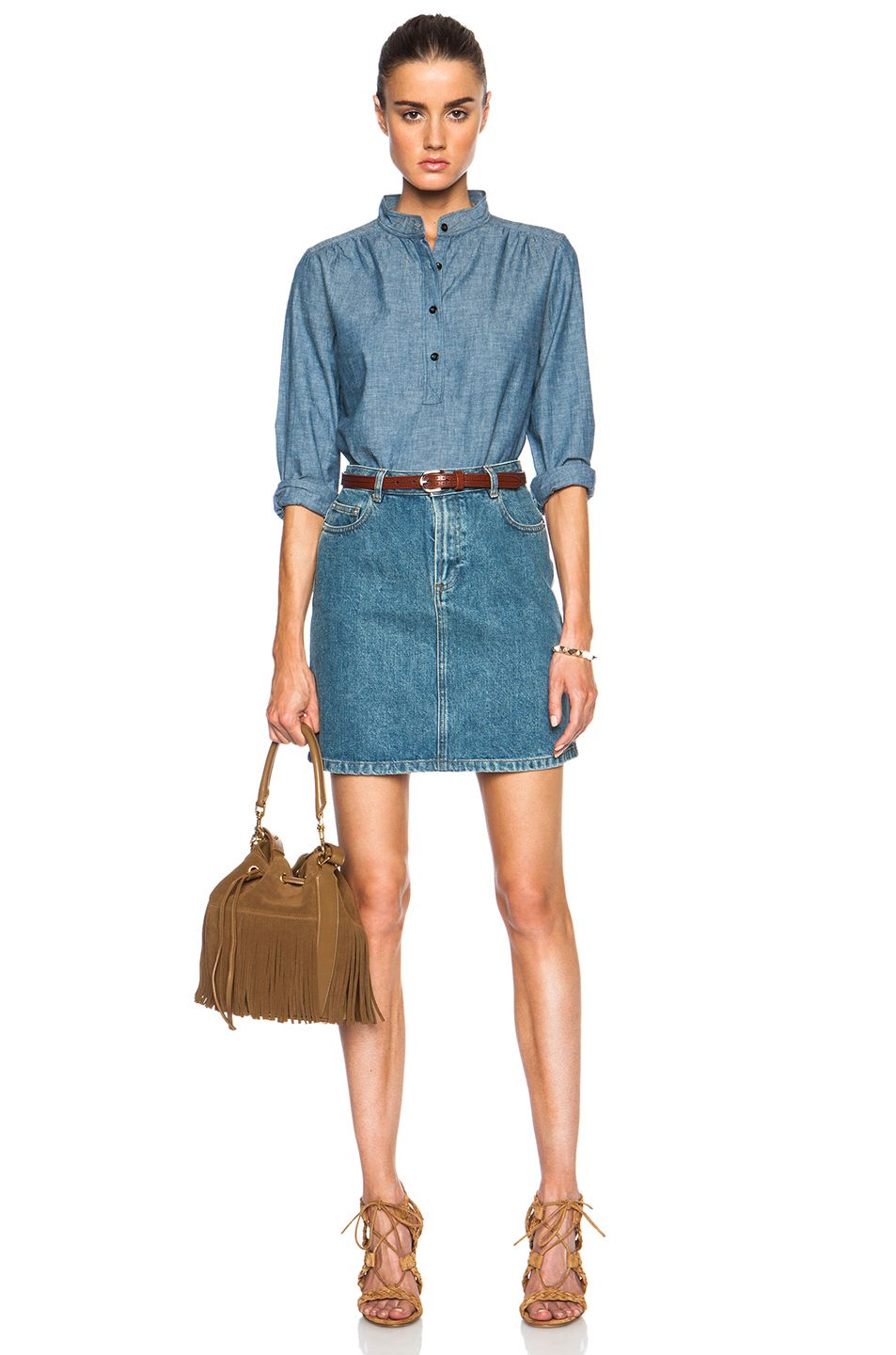 49aa1df9f2 Image 5 of A.P.C. Standard Denim Skirt in Indigo Delave | yes ...