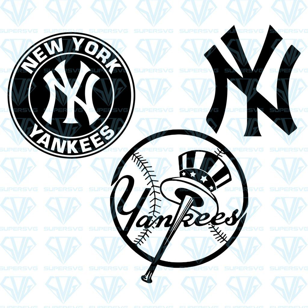 New York Yankees Bundle Svg Files For Silhouette Files For Cricut Svg Dxf Eps Png Instant Download In 2020 Svg New York Yankees Cricut