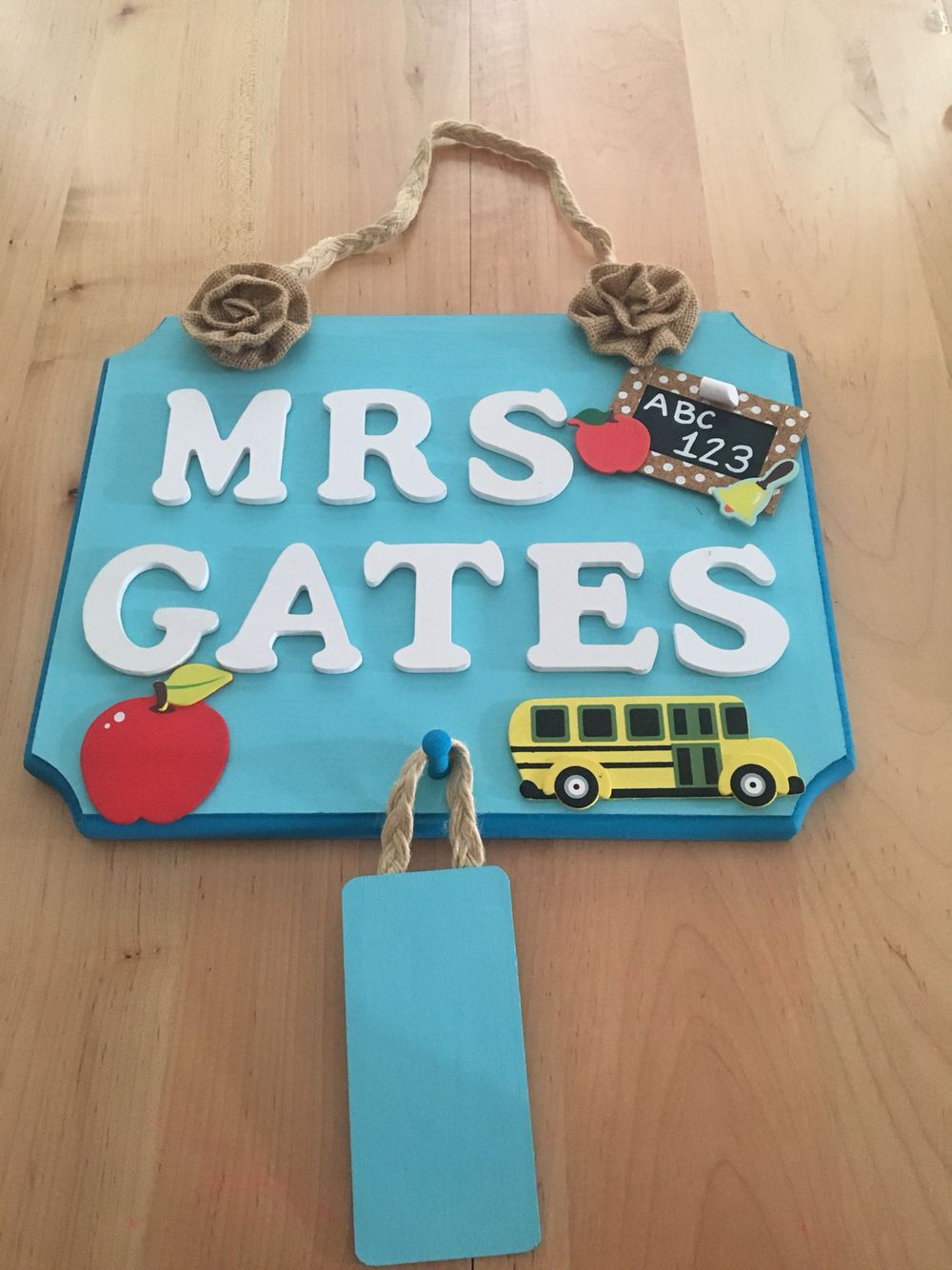 Door name Plaque I made for my awesome Sis-in-law, for her classroom!