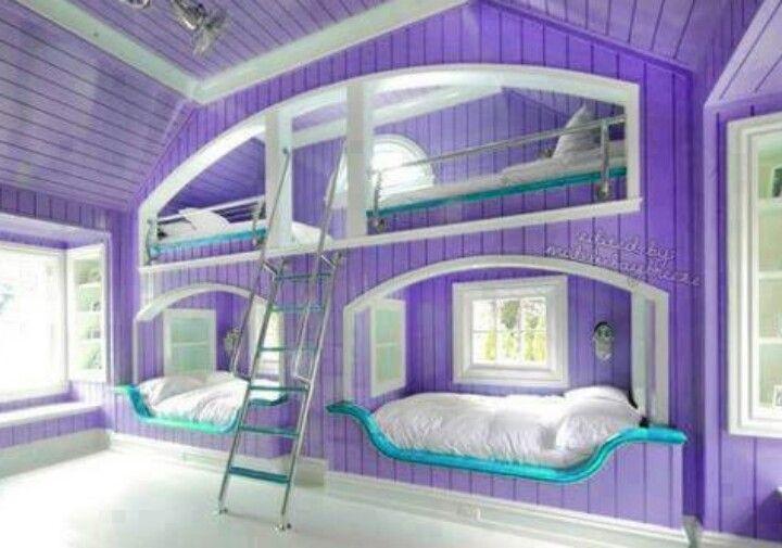 Purple and turquoise | Bedroom ideas | Pinterest