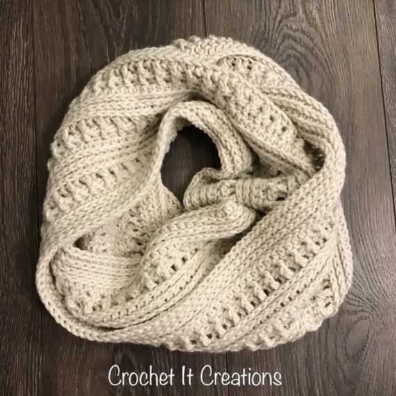 Ana Infinity Scarf Crochet Pattern | Crochet Scarf | Crochet Cowl | Crochet Winter #crochetscarves