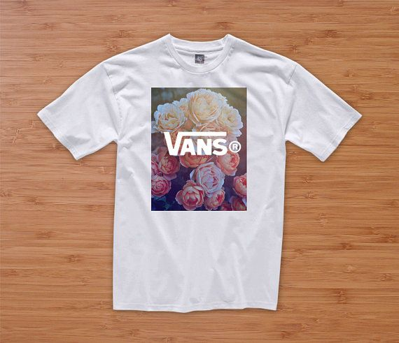 377f7a2dc7e5a VANS FLORAL HIPSTER tshirt hipster dope tumblr prada chanel shirt quote