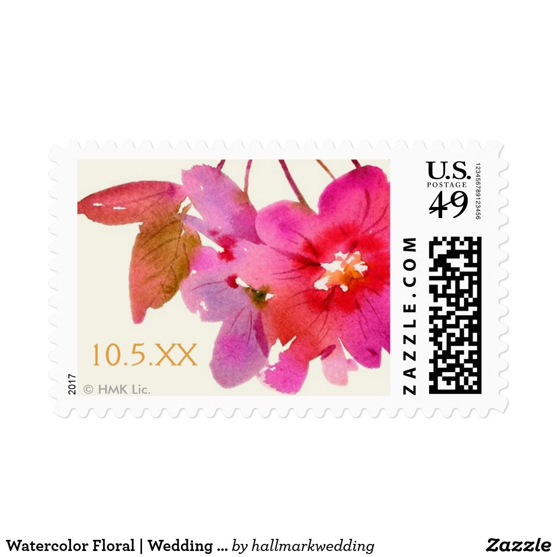 Watercolor Floral   Wedding Date Postage Get exceptional designs, values, and quality with invitations, announcements and postage from Hallmark.