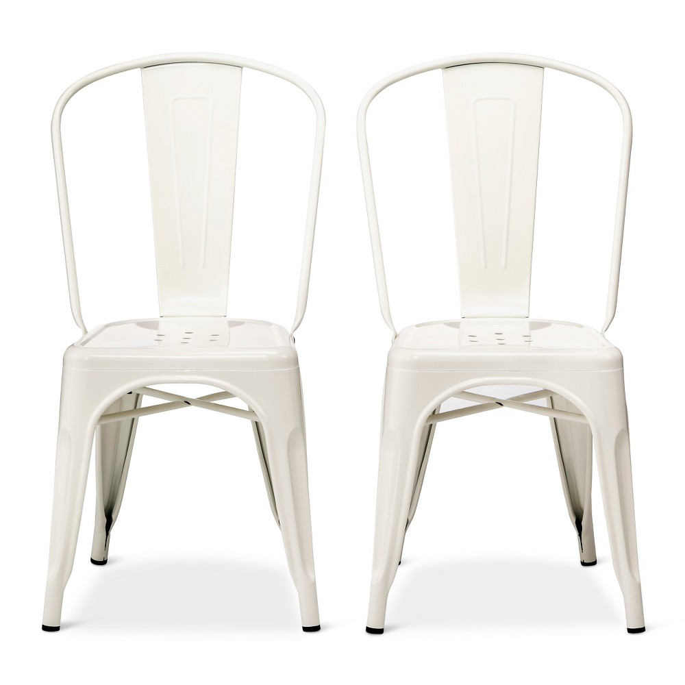 Carlisle High Back Metal Dining Chair  White  Products