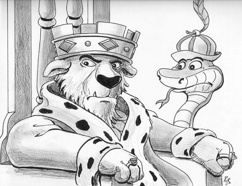 Robin Hood Disney Ausmalbilder : Tim Sale Board Weekly Sketch Blog Chernabog Prince John Disney