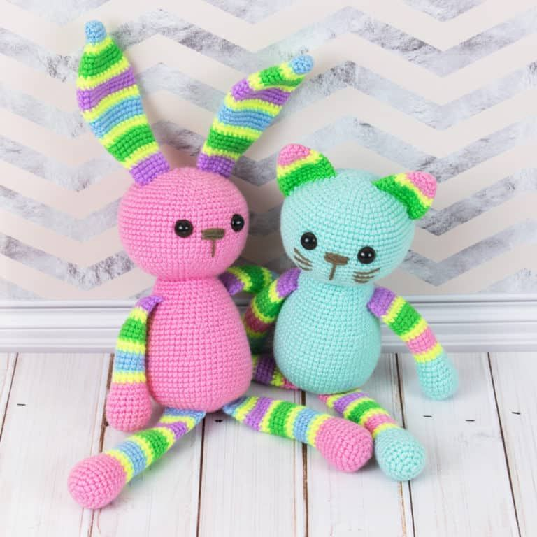 Amigurumi stripy rabbit - Free crochet pattern by Amigurumi Today ...