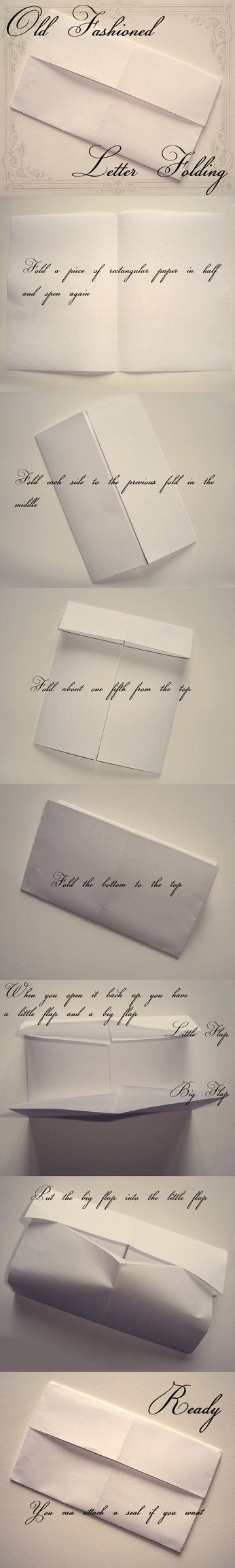 Folding Letter The Old Fashioned Way   Just Like In Jane Austen Films.
