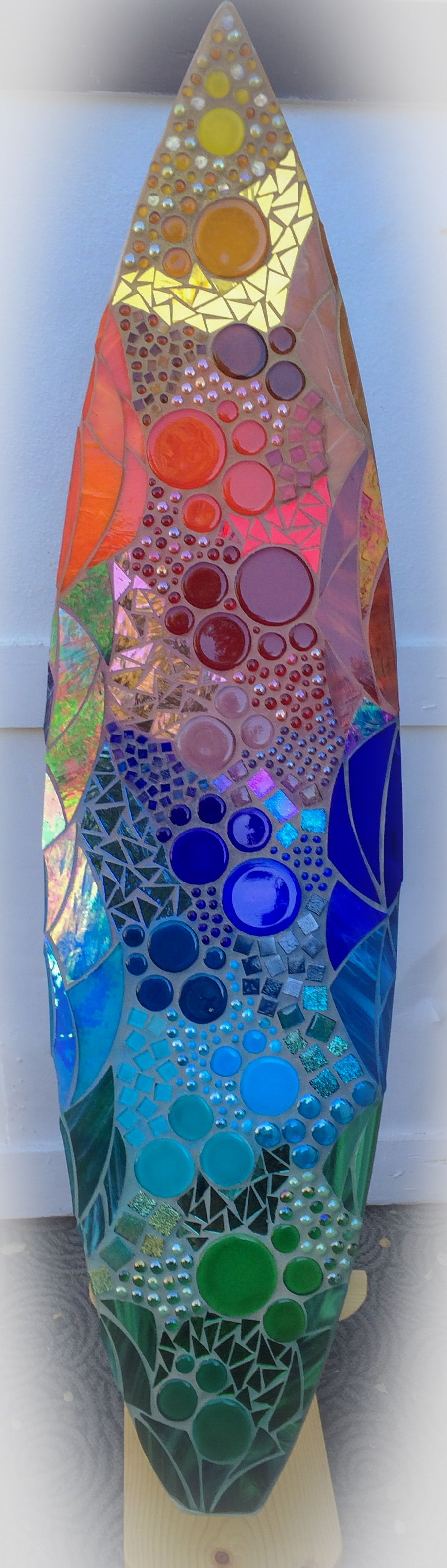 Bubble Mosaic Glass Surfboard. In Series