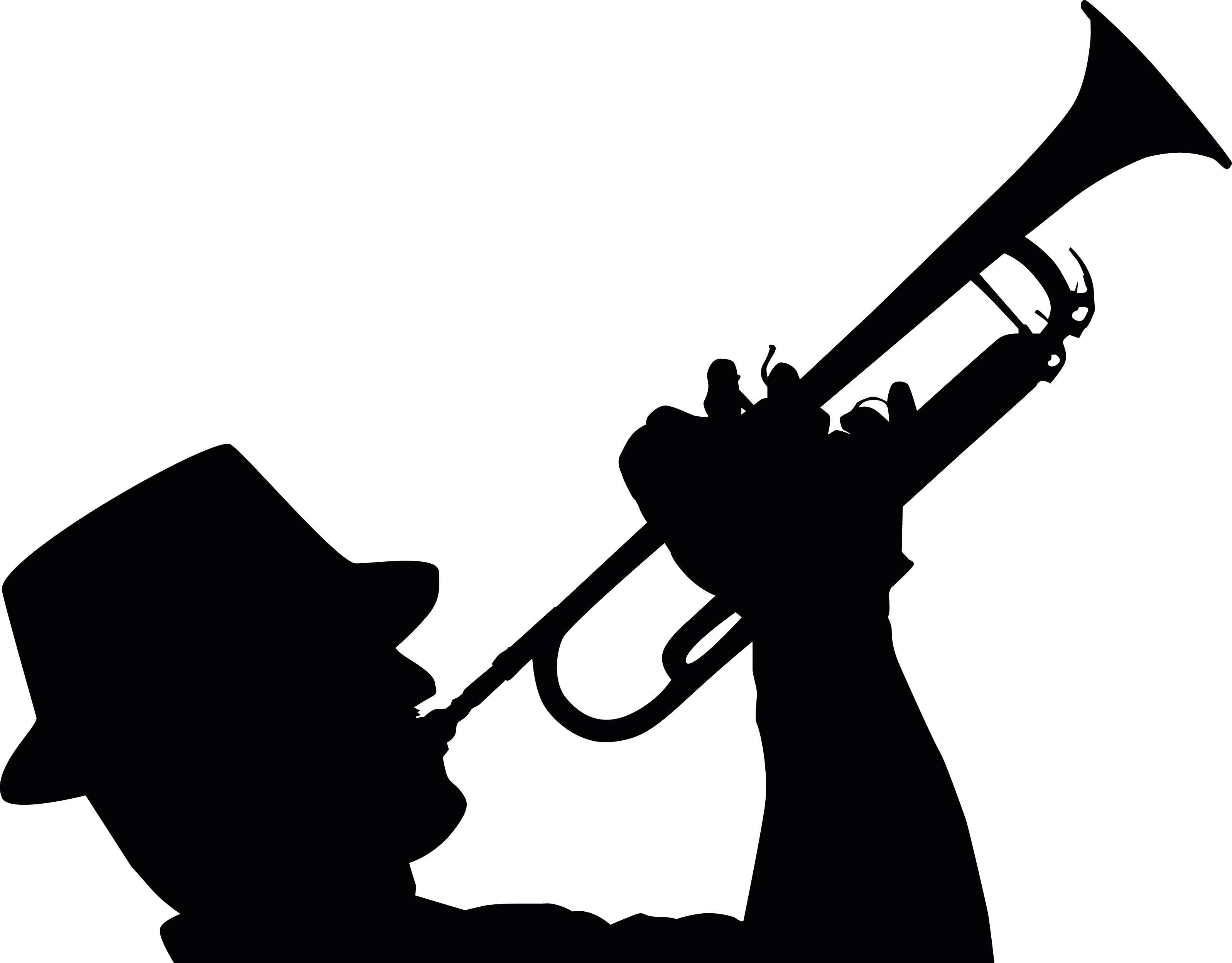 Trompeta Human Silhouette School Dance Ideas Jazz