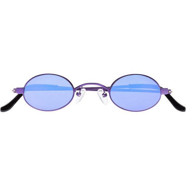 72d9fd88555c Roberi   Fraud purple Doris oval sunglasses (6 710 UAH) ❤ liked on Polyvore  featuring accessories