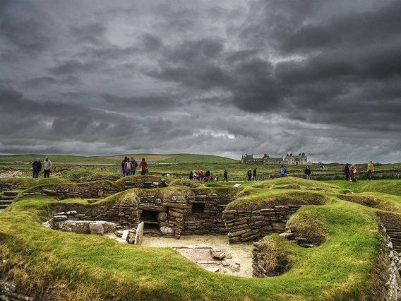 Skara Brae is one of the best-preserved Neolithic villages in Europe.