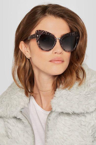 36be706ad8 Stella McCartney - Cat-eye Leopard-print Acetate Sunglasses - Brown ...